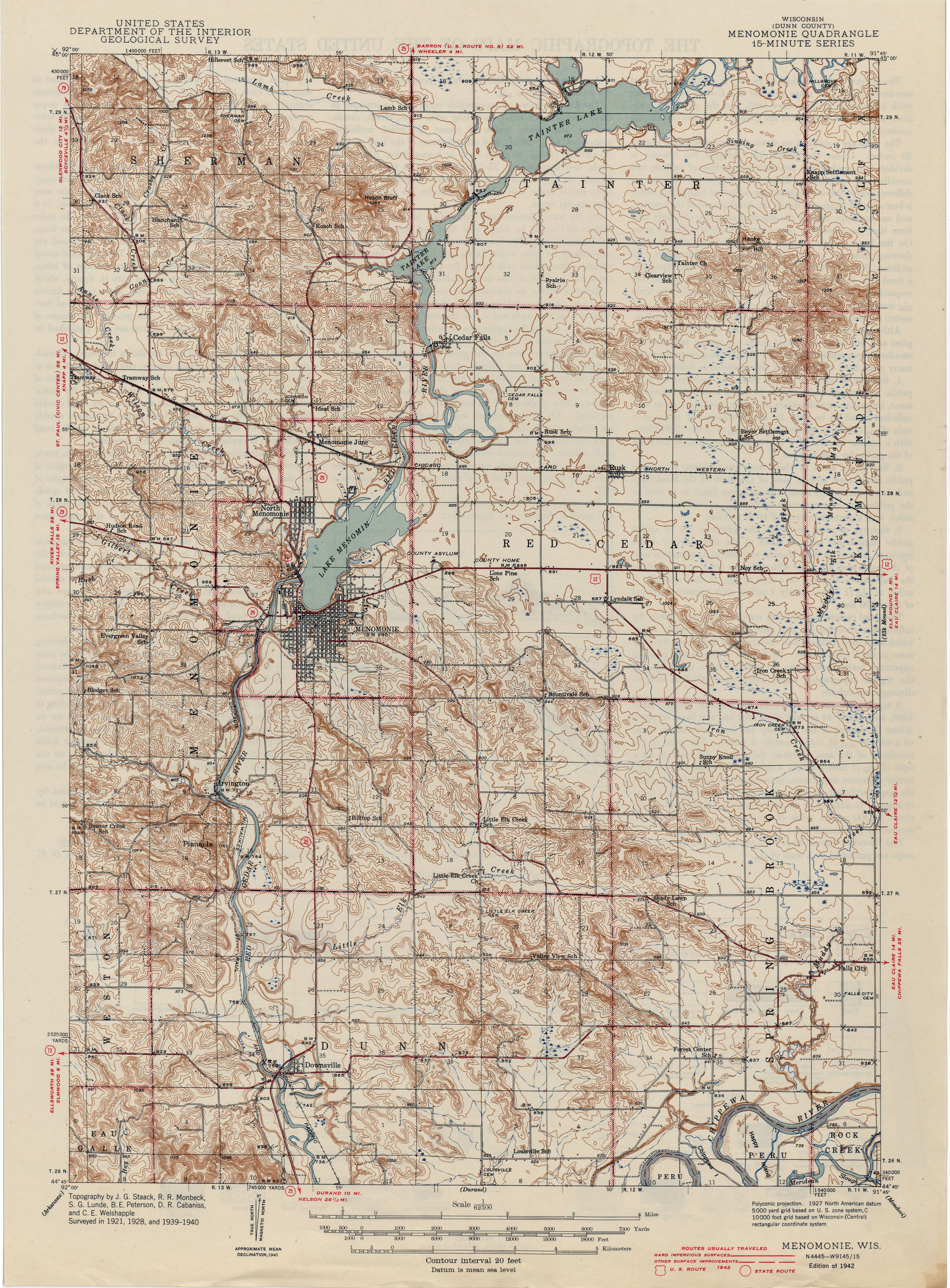 Historical Topographic Maps PerryCastañeda Map Collection UT - Wisconsin maps