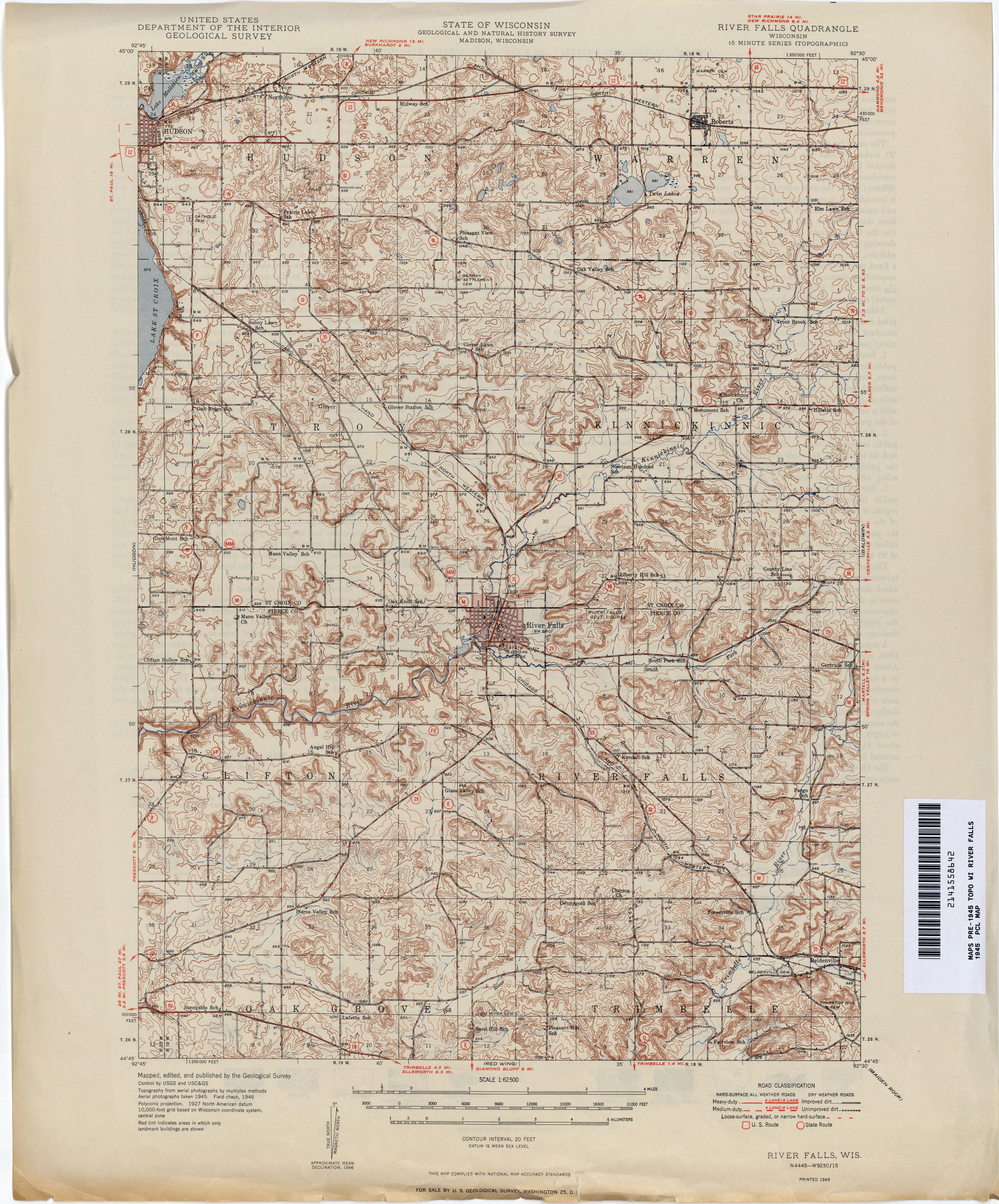 Historical Topographic Maps PerryCastañeda Map Collection UT - Road map of wisconsin