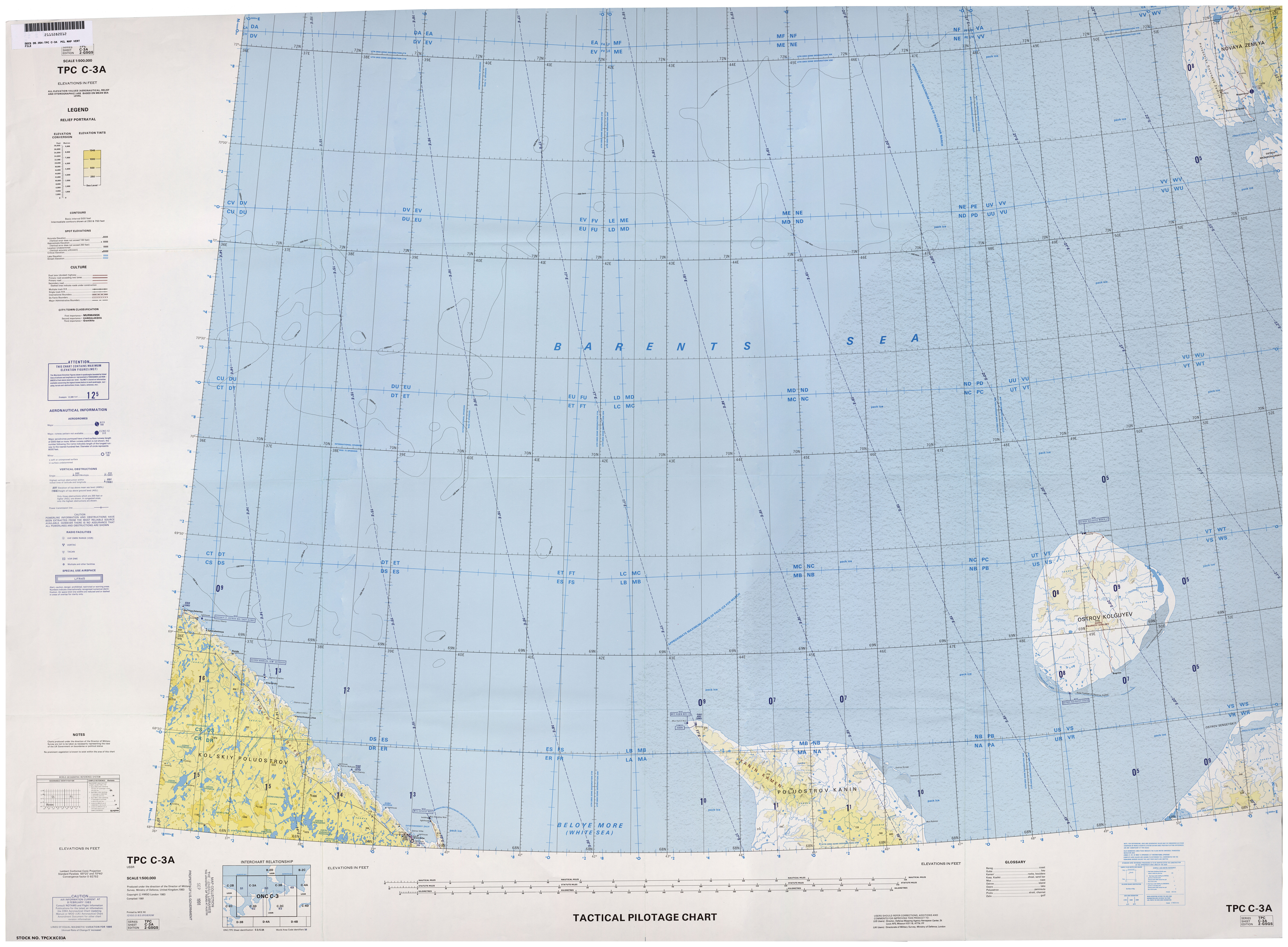 for navigational use US Defense Mapping