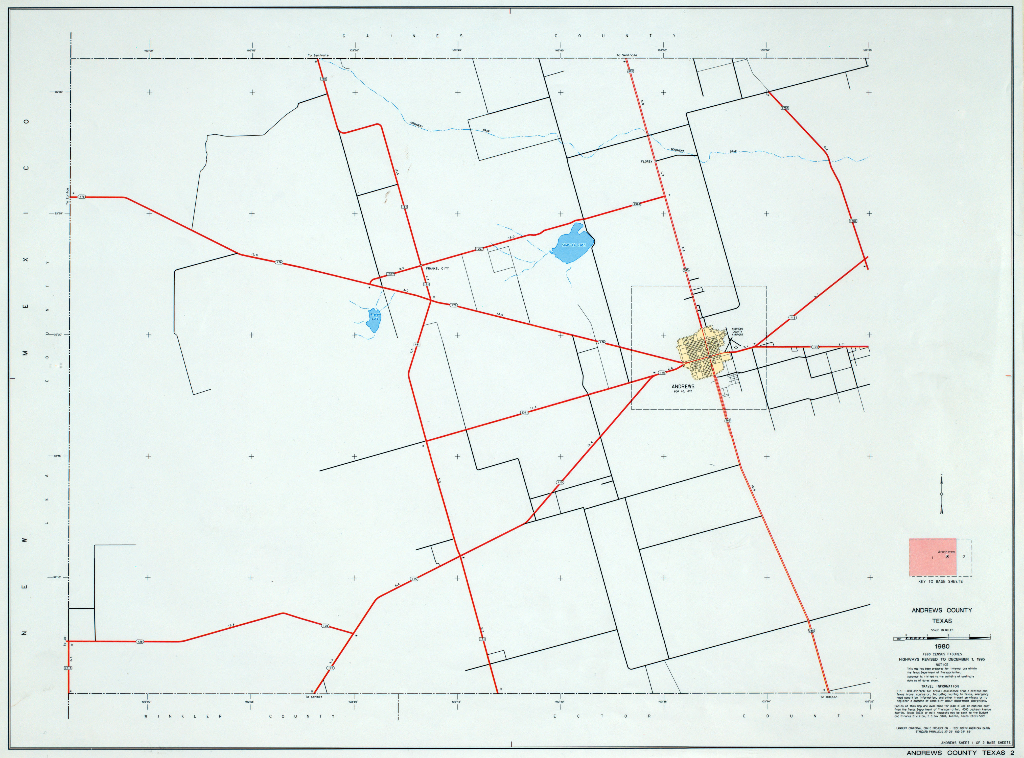 Texas County Highway Maps Browse - Perry-Castañeda Map ... Andrews County Texas
