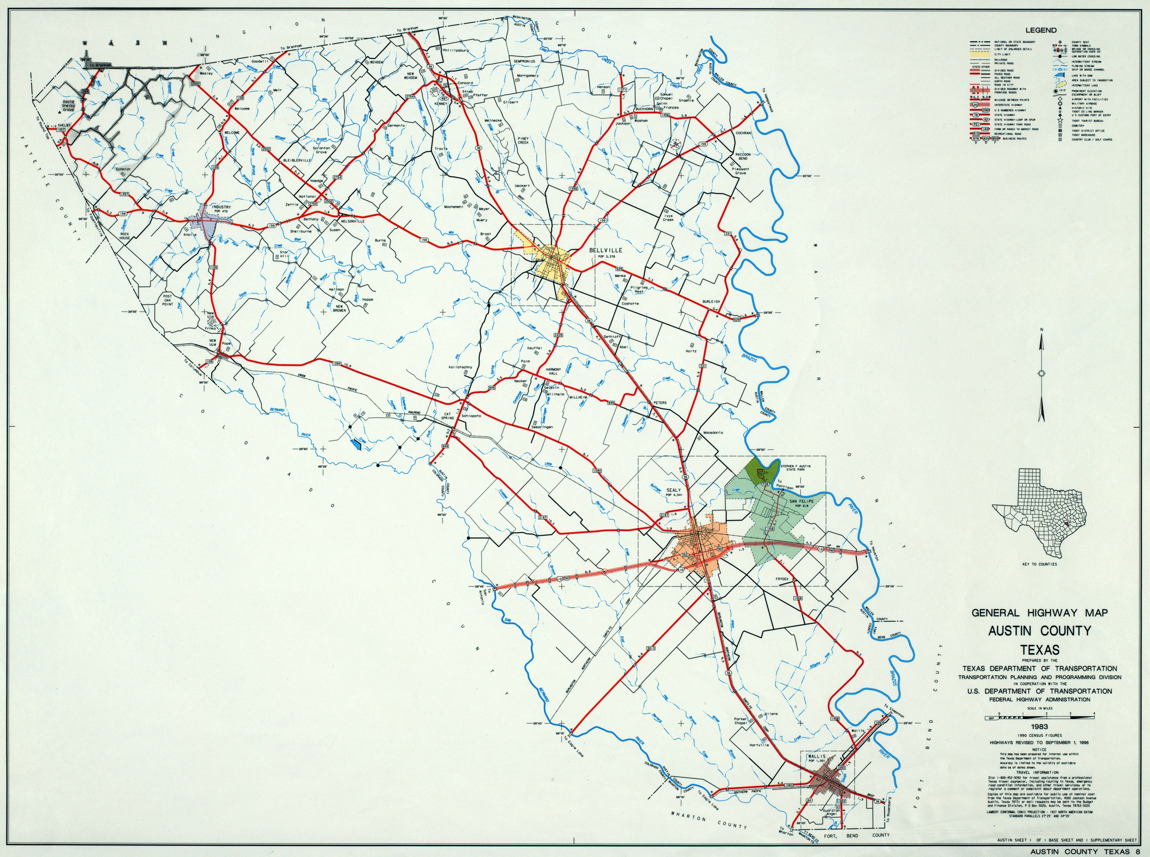 Texas County Highway Maps Browse Perry Casta±eda Map Collection