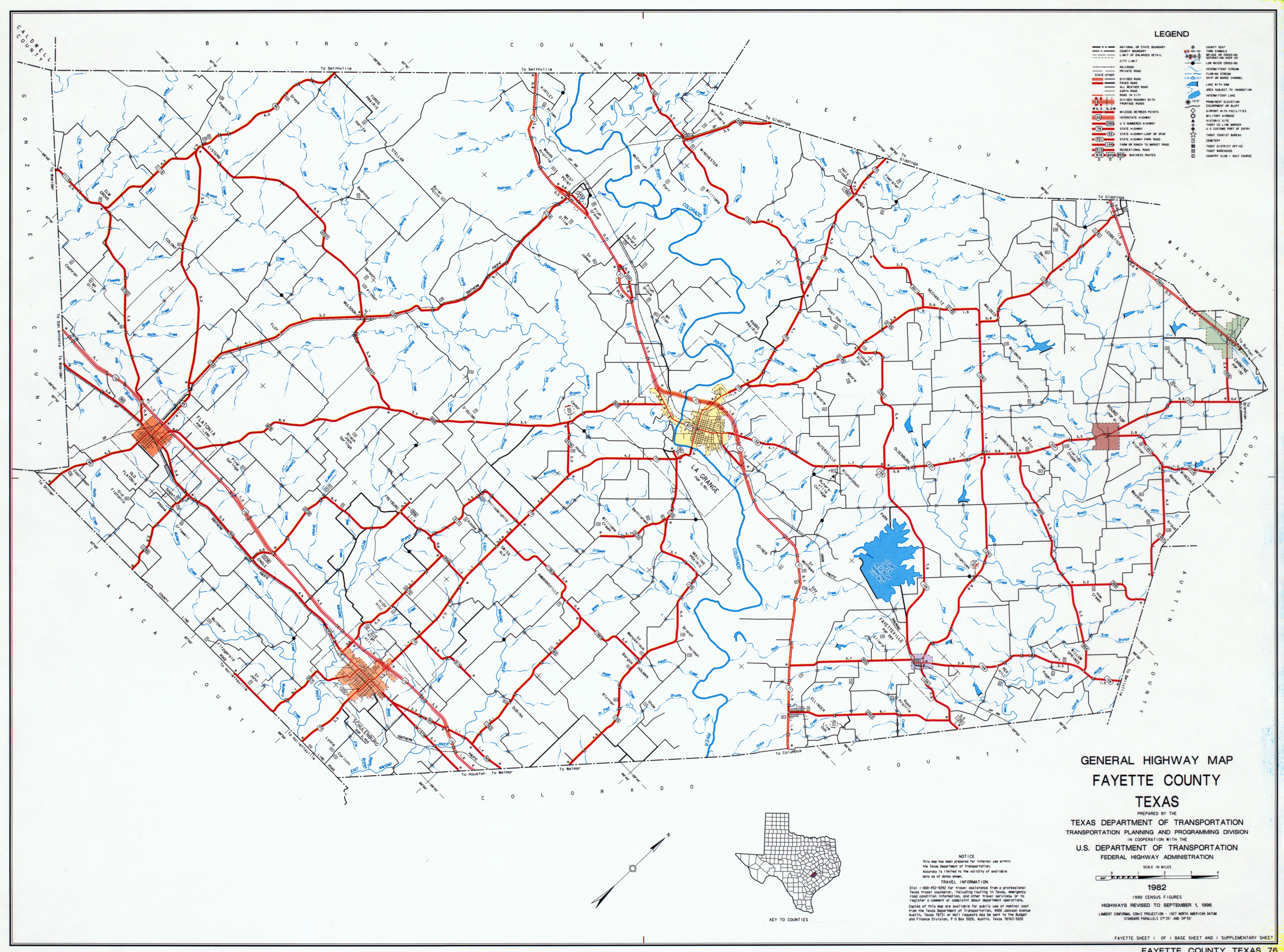 Texas Map Of Texas.Fayette County Texas Maps