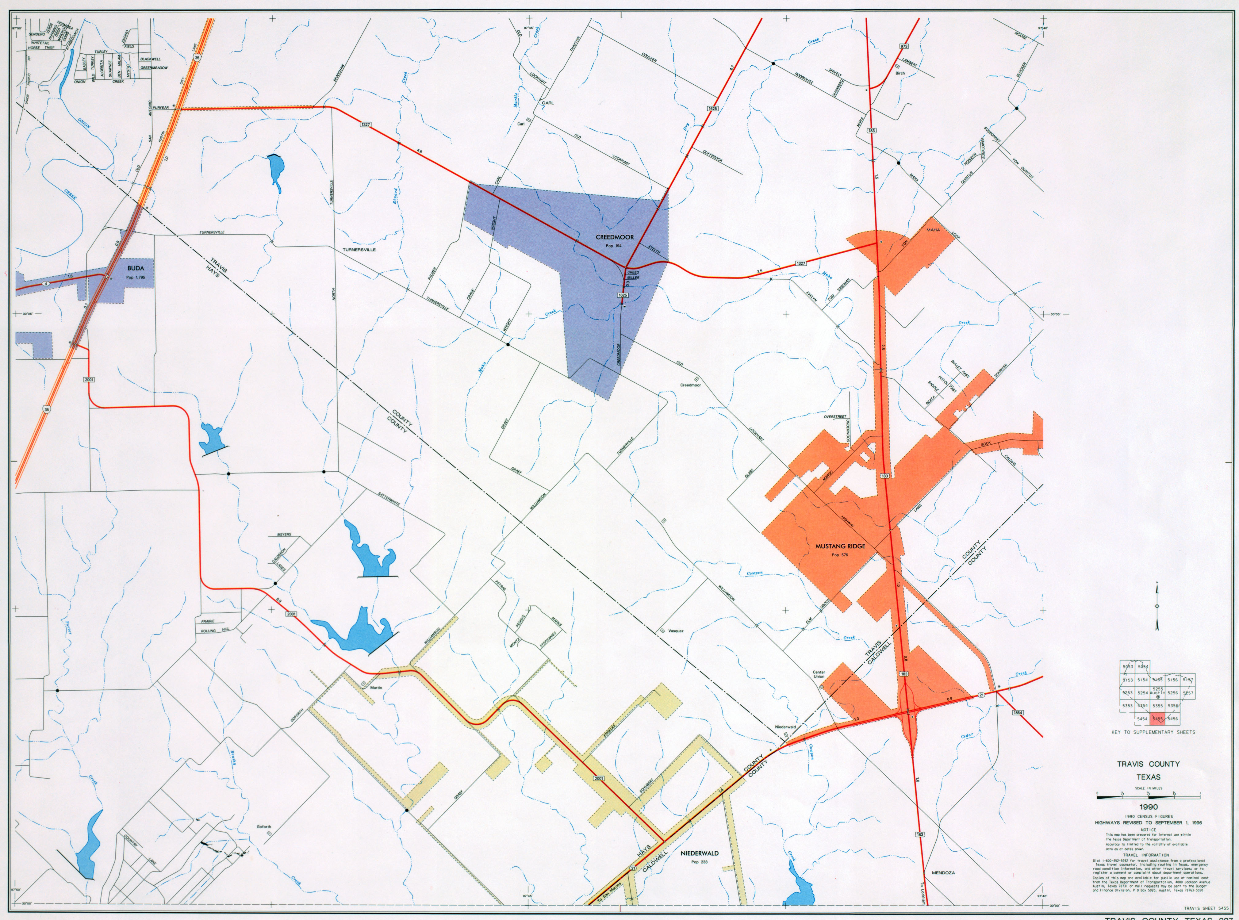 Austin texas maps perry castaeda map collection ut library online travis county county 227 supplementary sheet 5456 1996 texas county maps 2012 texas department of transportation publicscrutiny Image collections