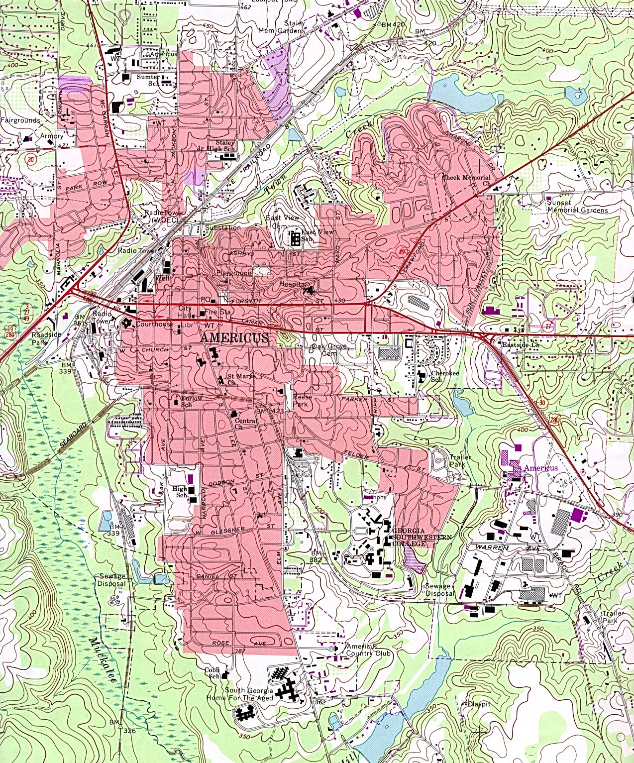 Georgia Maps PerryCastañeda Map Collection UT Library Online - City map of georgia
