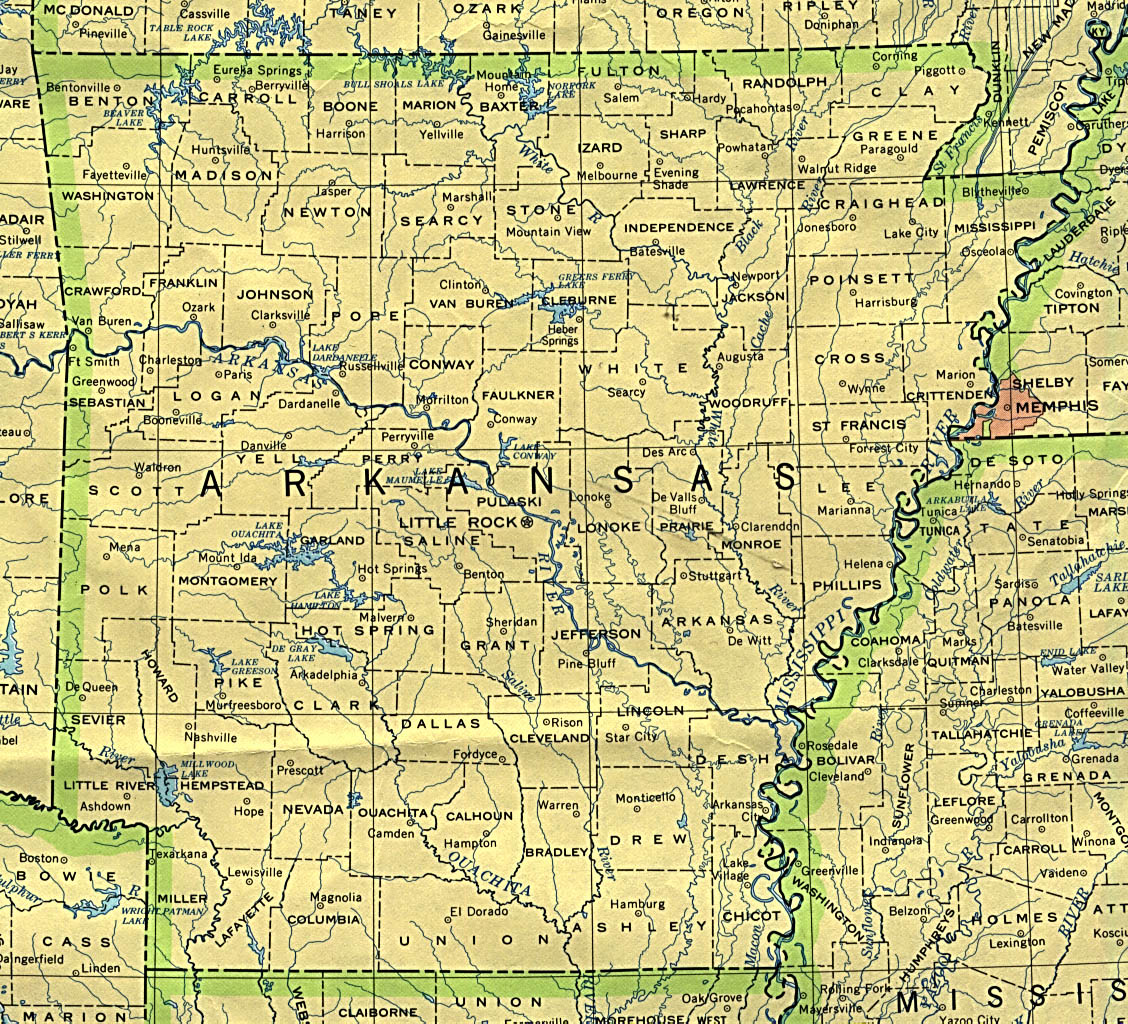 Arkansas Maps PerryCastaeda Map Collection UT Library Online