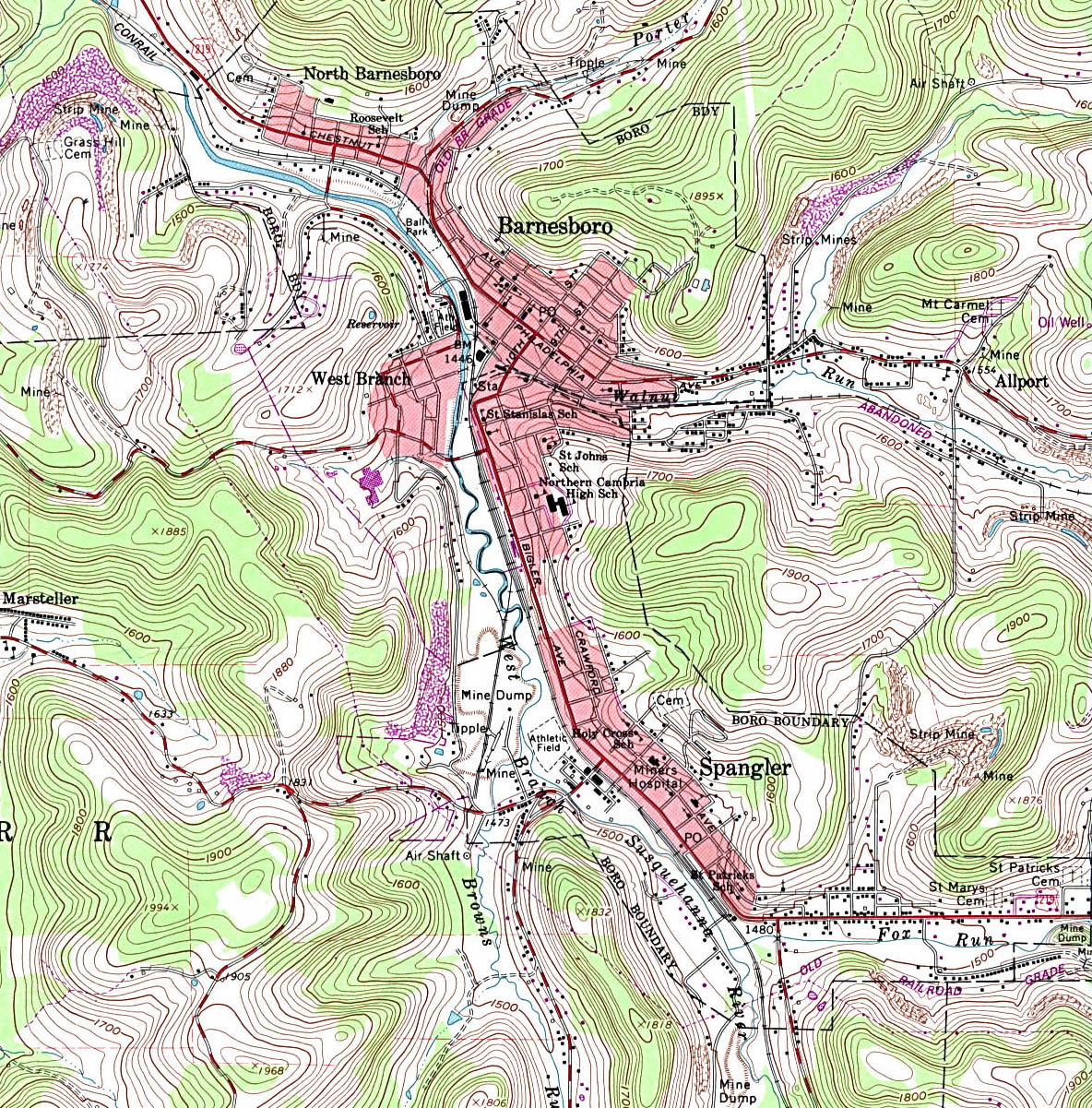 Pennsylvania Maps PerryCastañeda Map Collection UT Library Online - Pa map with cities
