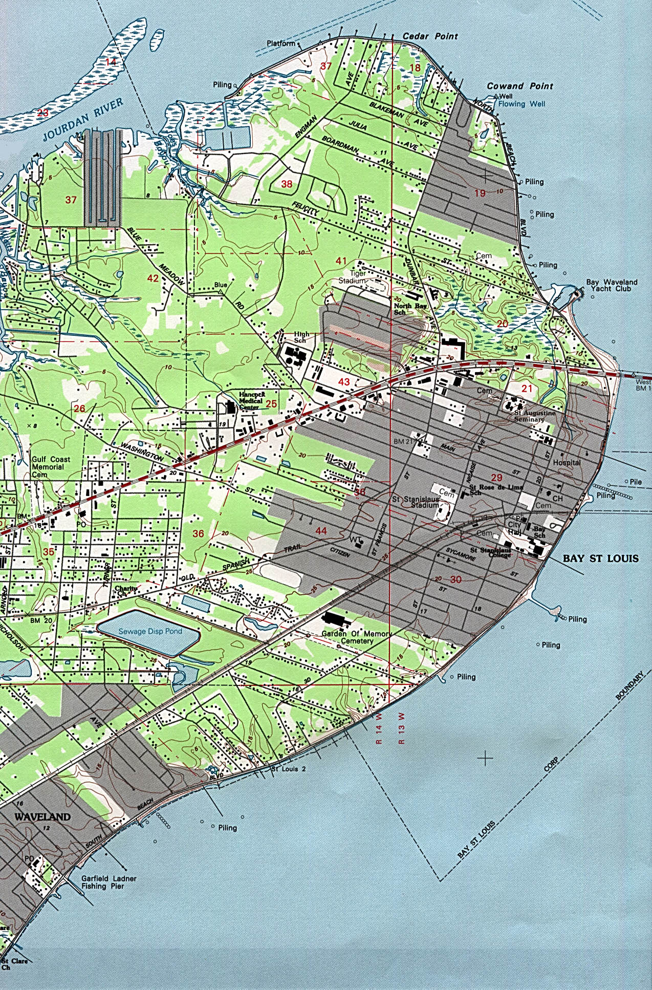 Map Of Bay St Louis Mississippi Mississippi Maps   Perry Castañeda Map Collection   UT Library Online