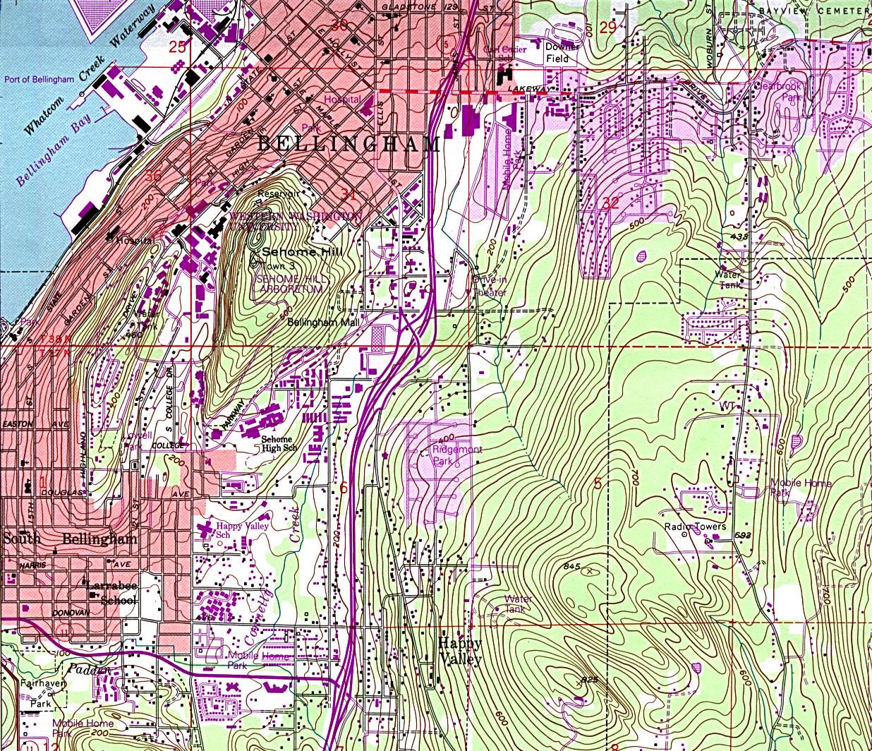 Washington Maps PerryCastañeda Map Collection UT Library Online - City map of washington state