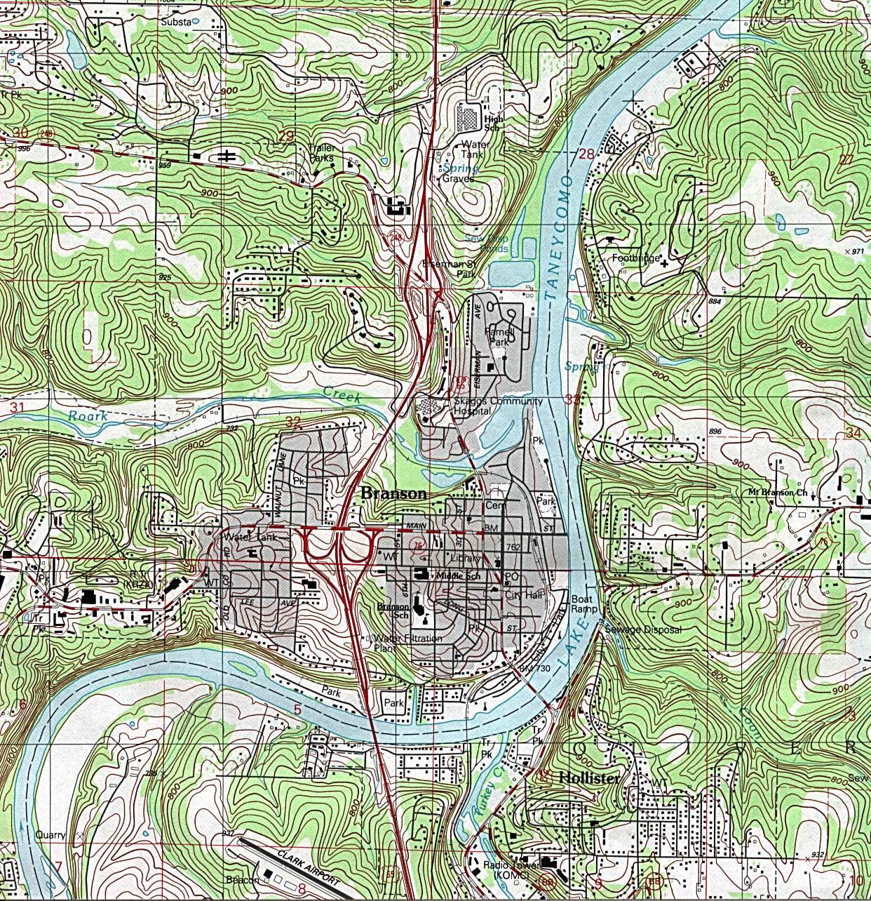 Branson (MO) United States  city images : Missouri Maps Perry Castañeda Map Collection UT Library Online