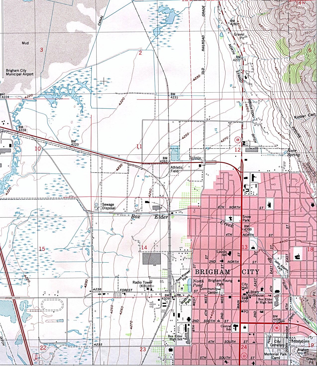 Utah Maps PerryCastañeda Map Collection UT Library Online - Utah road map