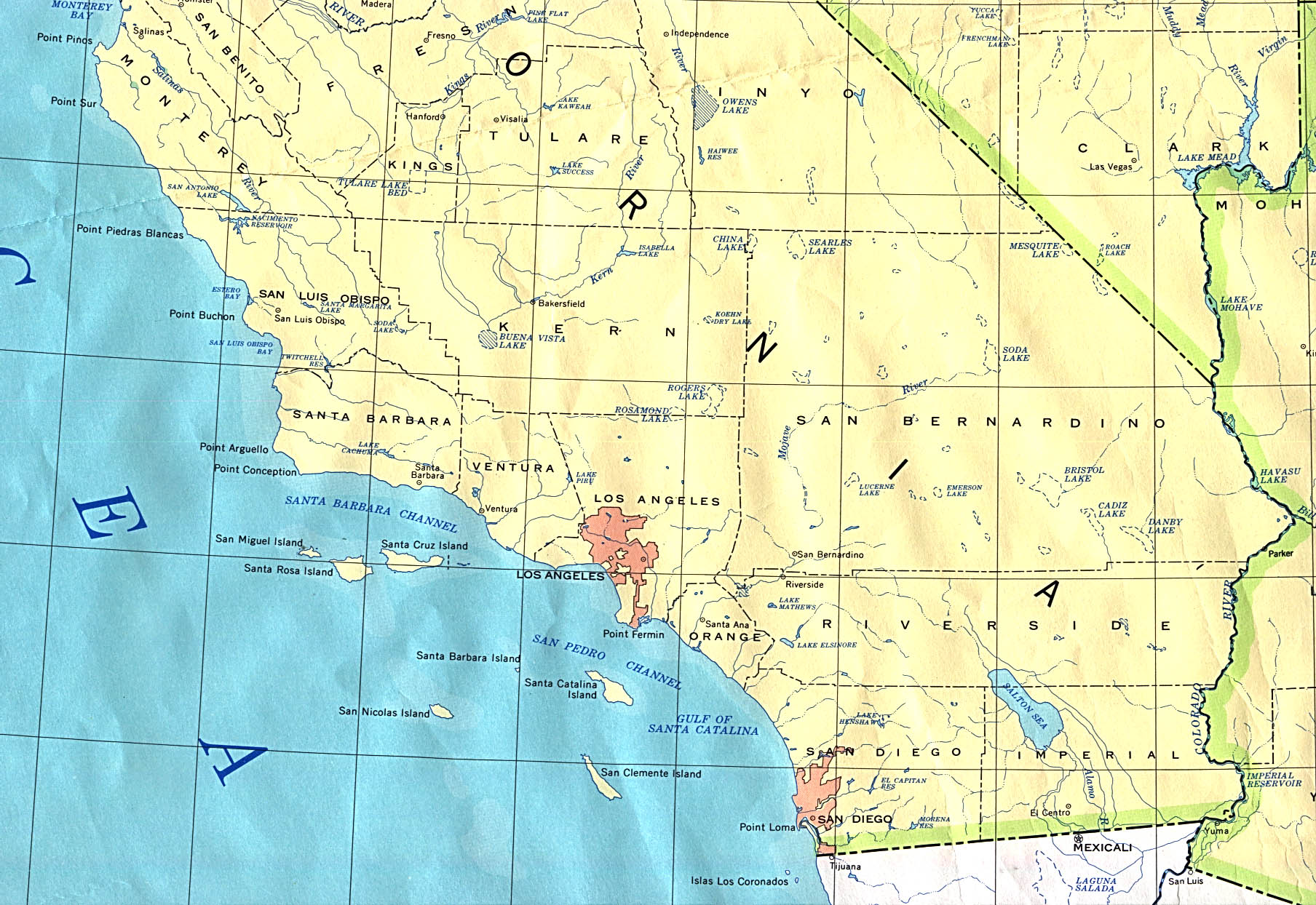 california southern base map