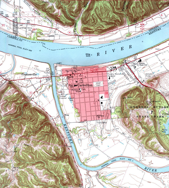 Kentucky Maps PerryCastañeda Map Collection UT Library Online - Kentucky city map
