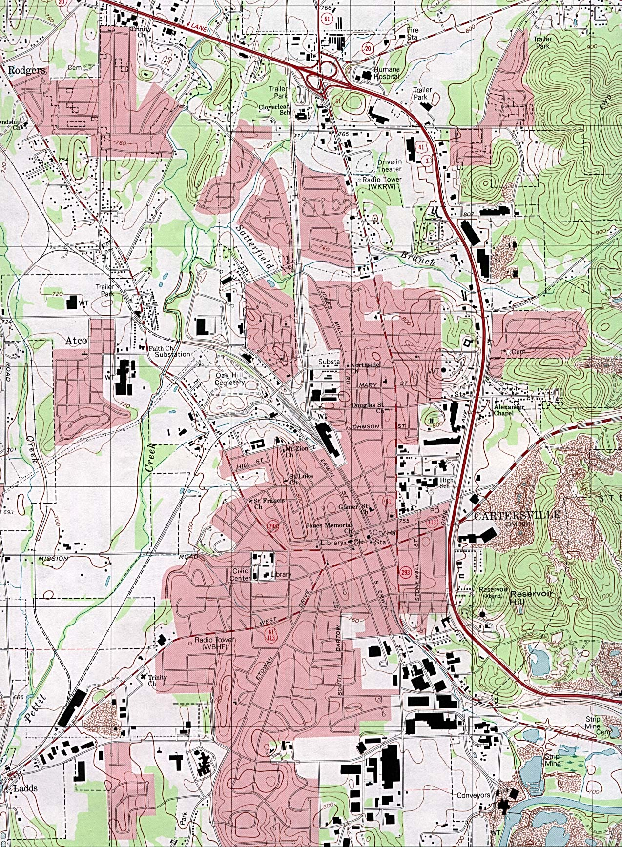 Georgia Maps - Perry-Castañeda Map Collection - UT Liry Online on
