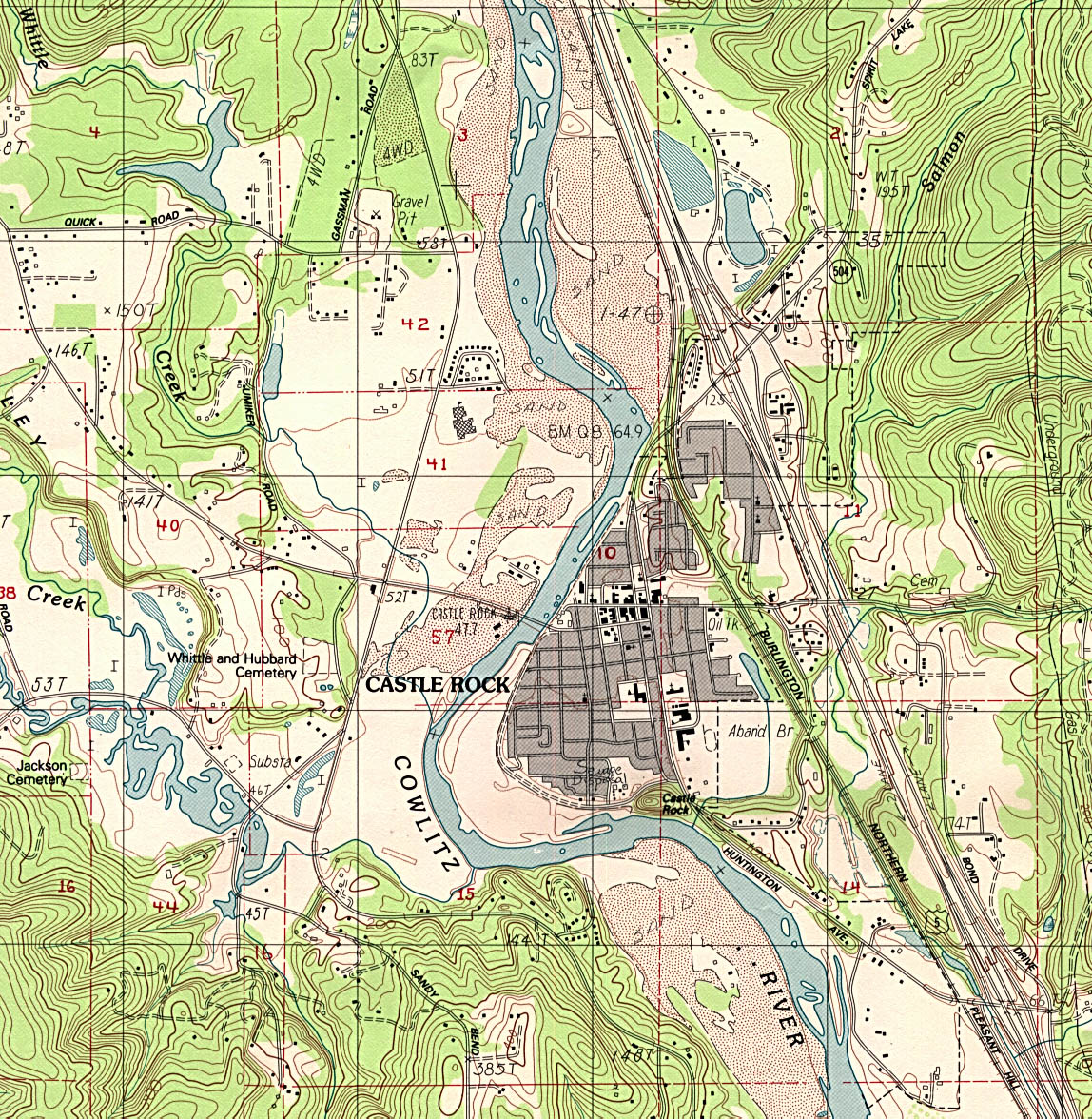 Washington maps perry castaeda map collection ut library online castle rock topographic sciox Choice Image