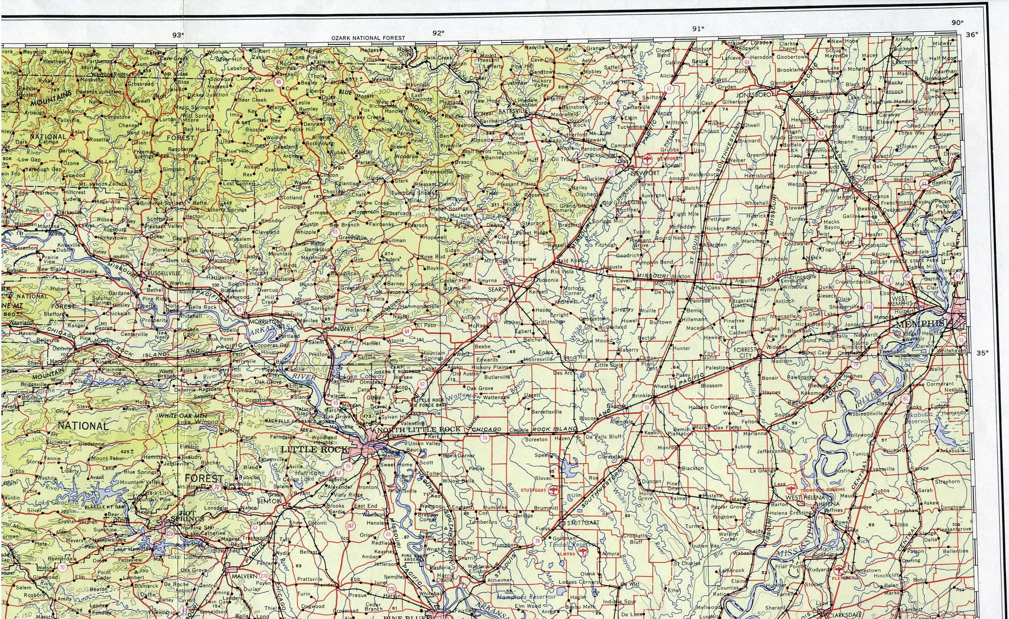 Arkansas Maps PerryCastañeda Map Collection UT Library Online - Arkansas on a us map