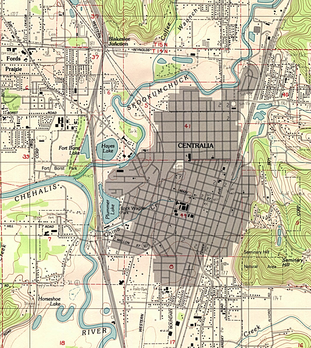 Washington maps perry castaeda map collection ut library online centralia topographic sciox Choice Image