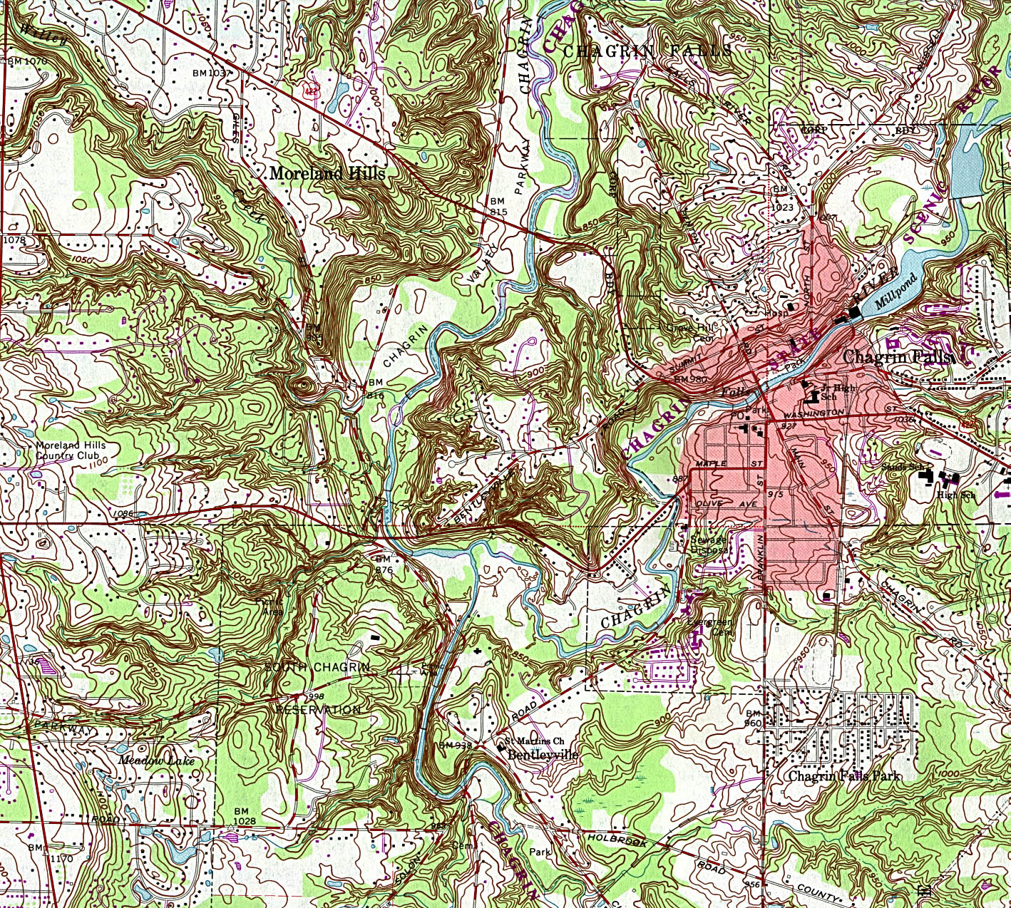 Topography Map Of Ohio.Geometry Net Basic O Ohio Maps