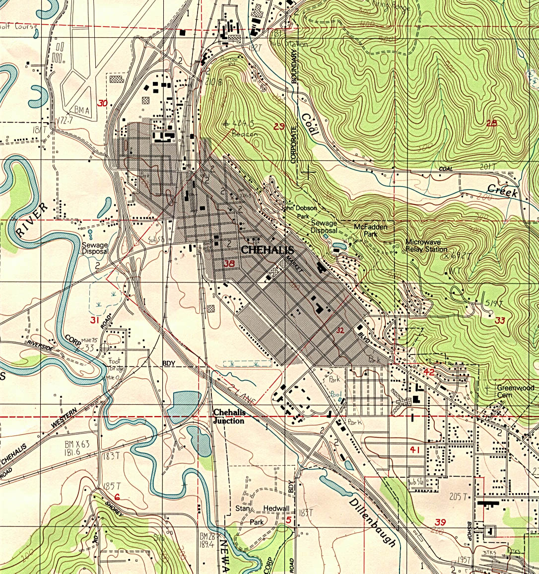 Washington maps perry castaeda map collection ut library online chehalis topographic sciox Choice Image