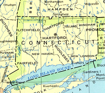 Connecticut Outline Maps And Map Links - Map of connecticut cities