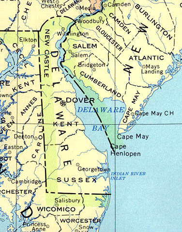 Delaware Outline Maps And Map Links - Delaware cities map