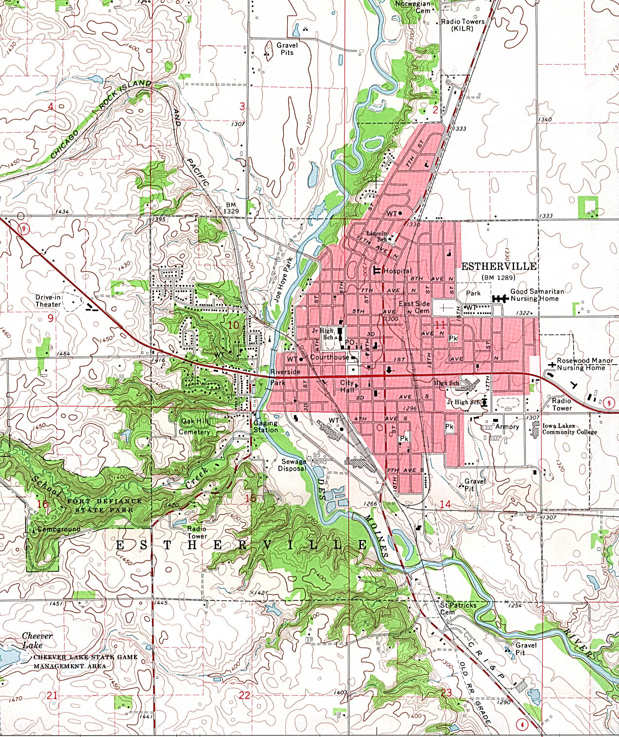 Iowa Maps PerryCastañeda Map Collection UT Library Online - State of iowa map