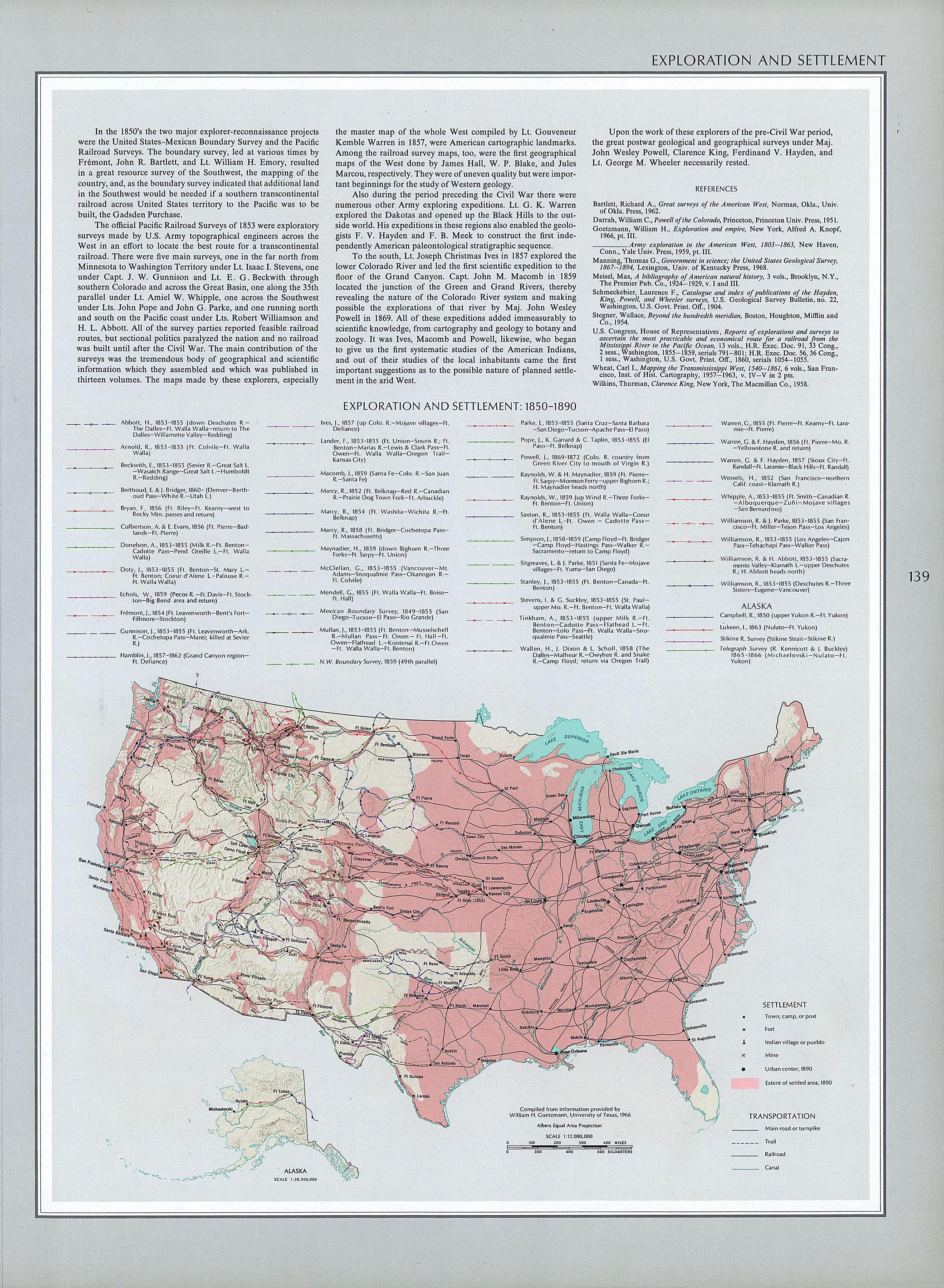 1850s America Map.United States Historical Maps Perry Castaneda Map Collection Ut