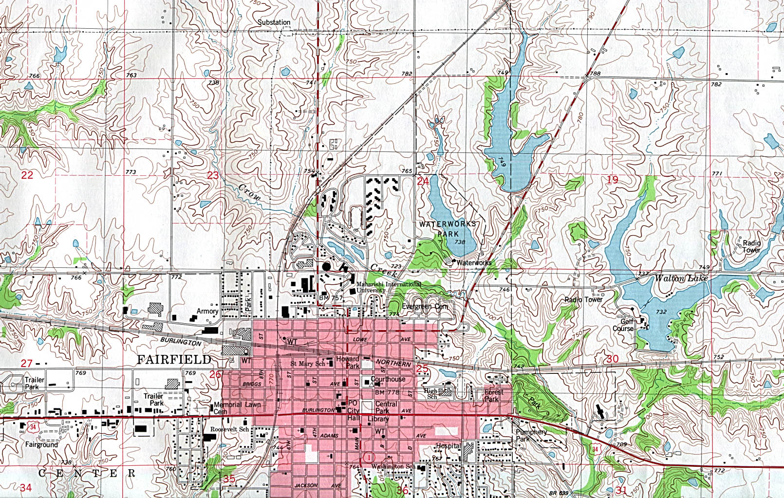 State Of Iowa Mapsof Interstate Highways Cities Typography - Cities in iowa map