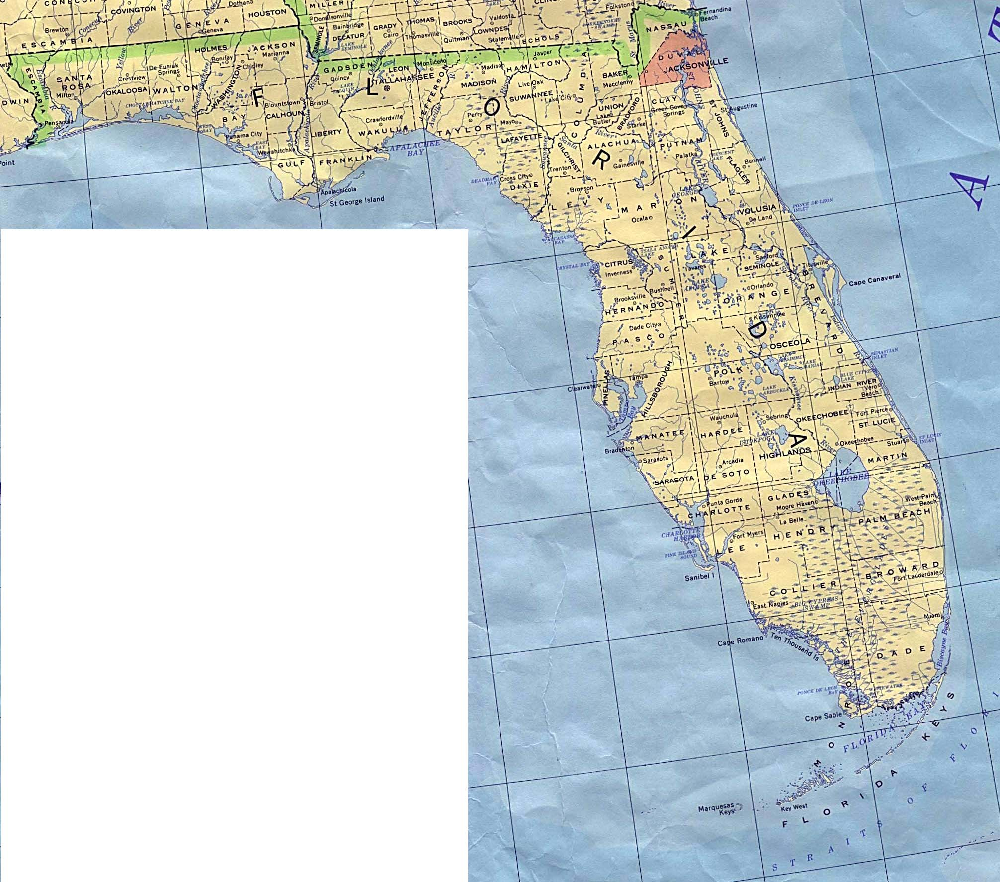 Florida Outline Maps And Map Links - Floida map