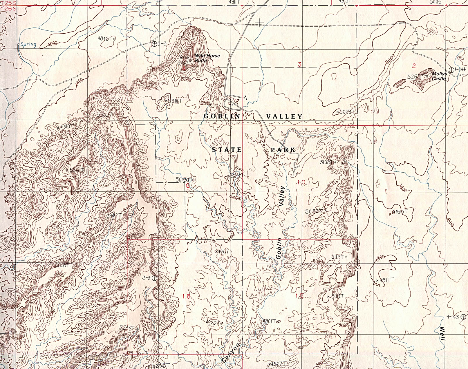 utah maps  perrycastañeda map collection  ut library online - maps of national and state parks monuments and historic sites