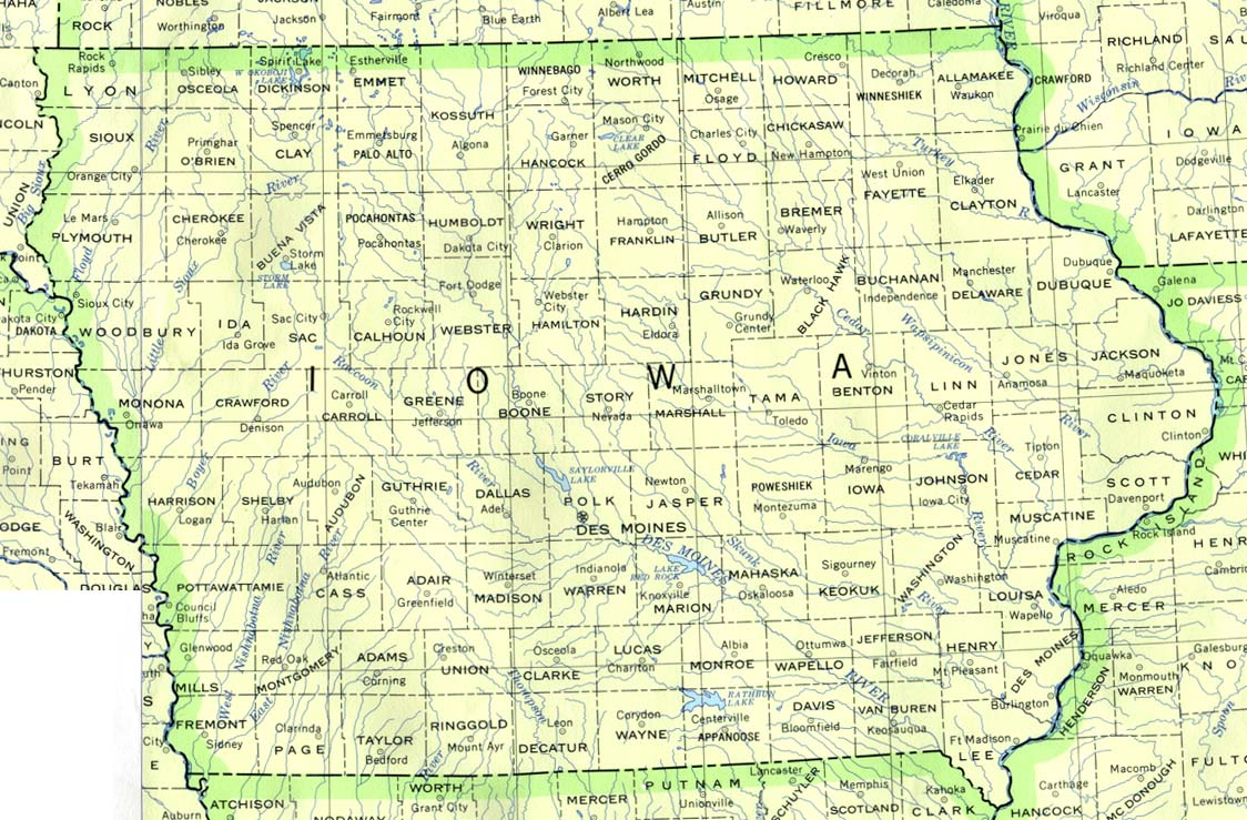 Iowa Outline Maps And Map Links - United states state maps