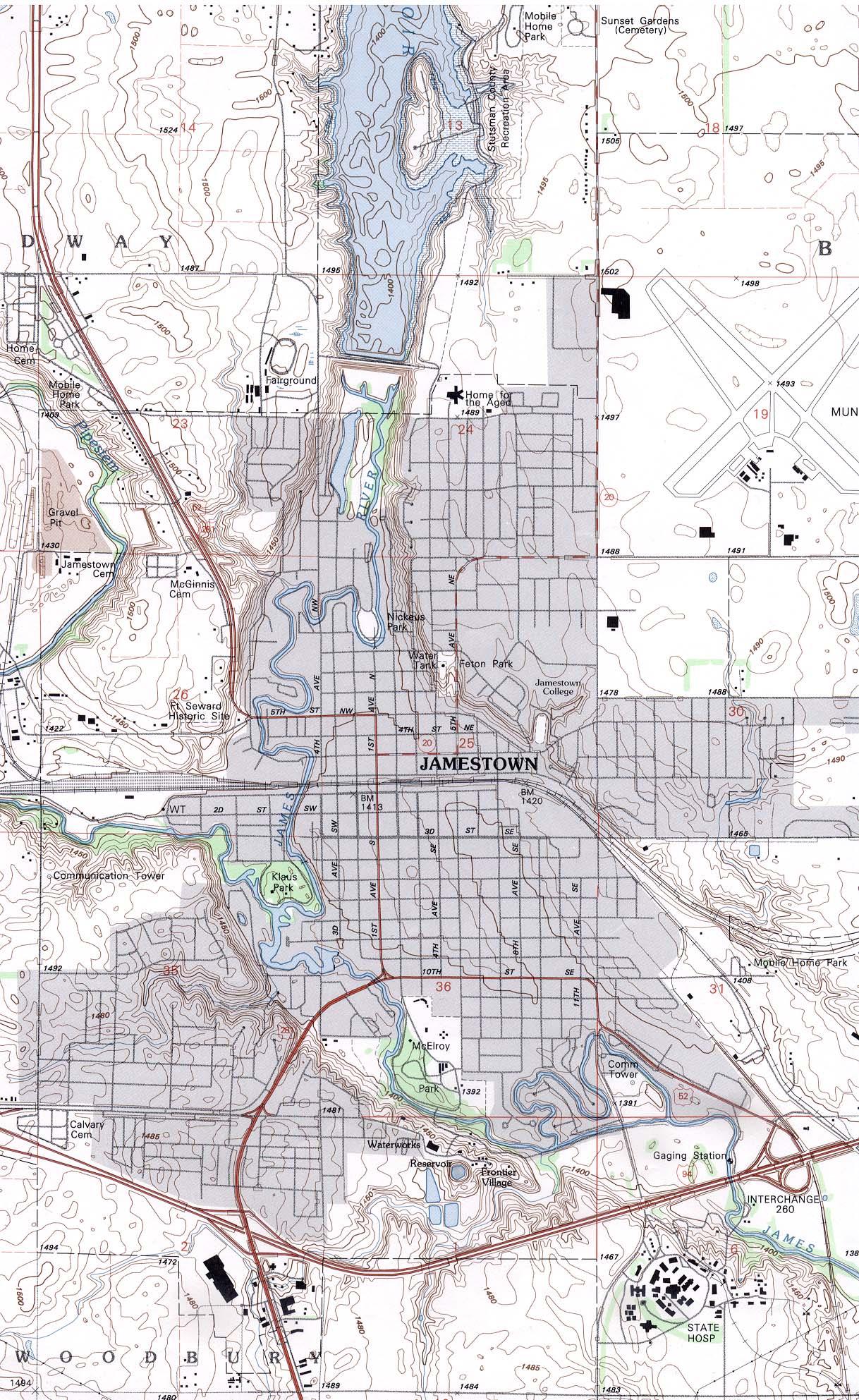 North Dakota Maps PerryCastañeda Map Collection UT Library Online - North dakota maps