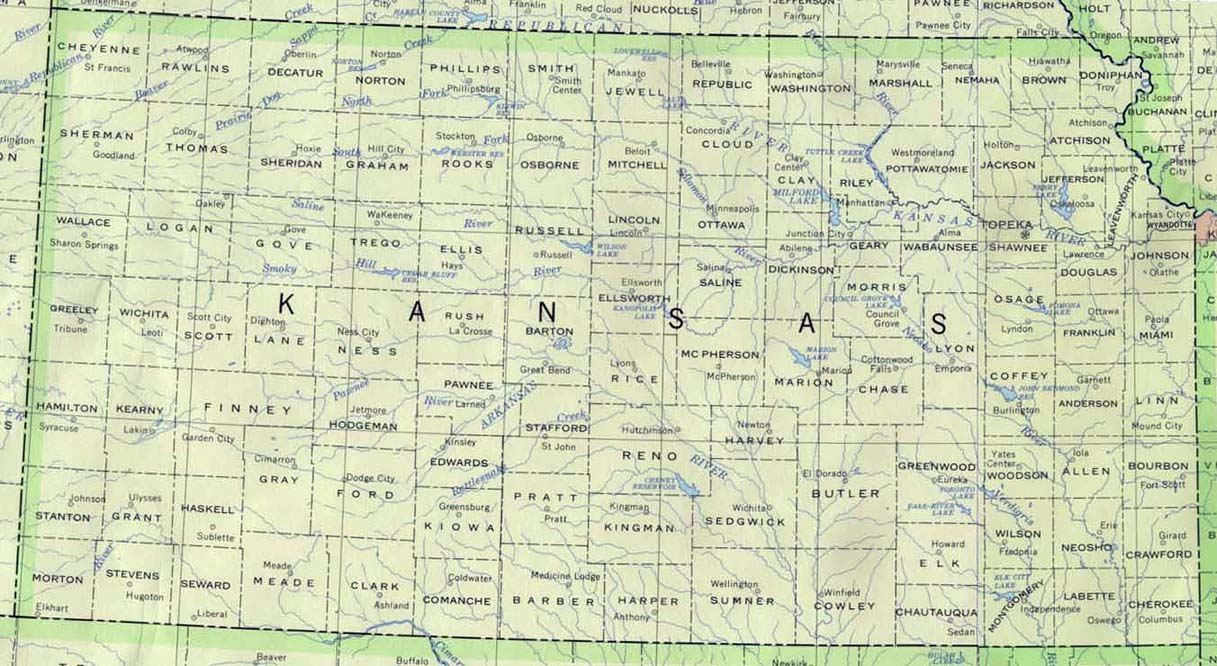 Kansas maps perry castaeda map collection ut library online kansas base map sciox Image collections