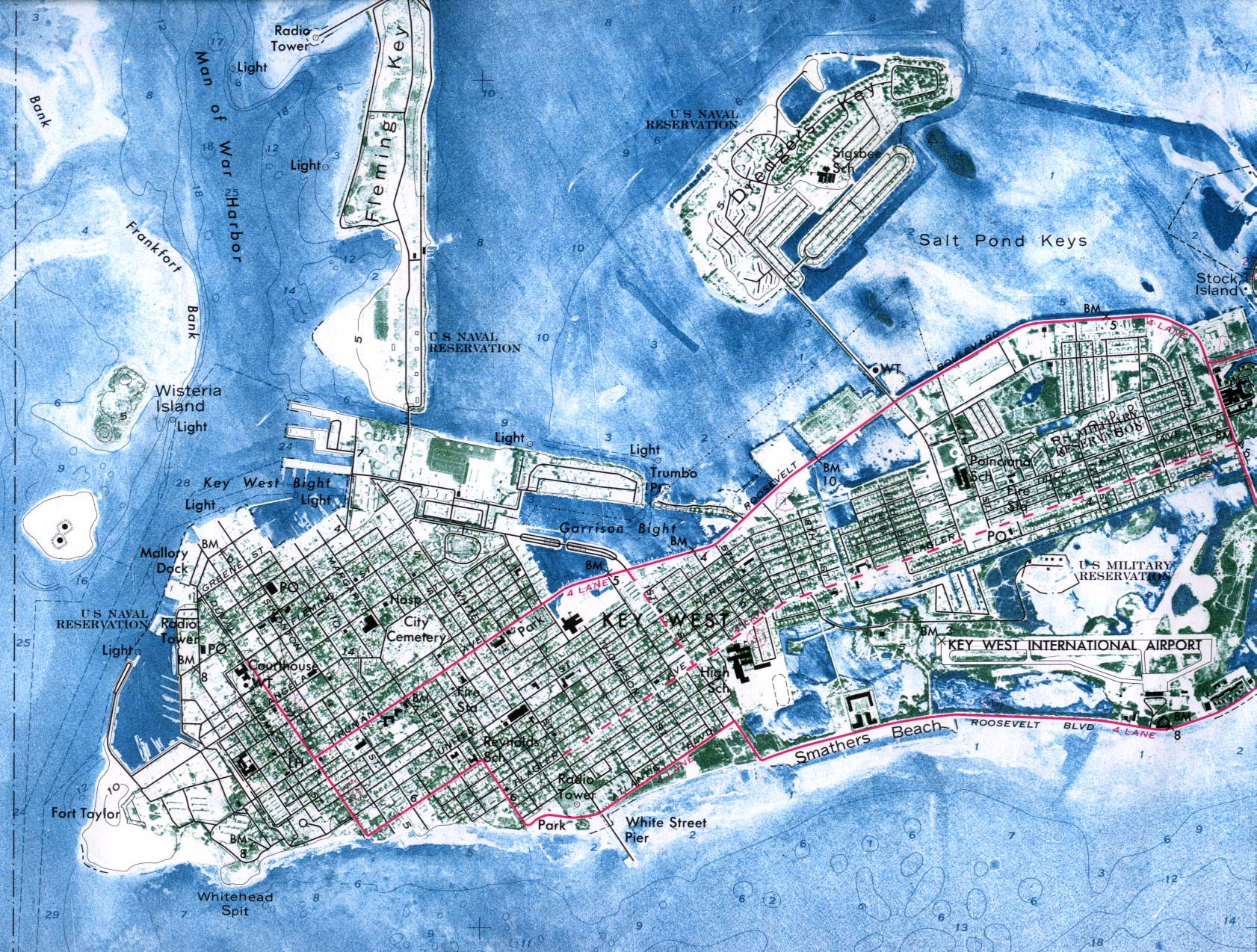 Map Of Key West Florida.Key West Bed And Breakfast Key West Inn Duval Gardens Tropical Bed