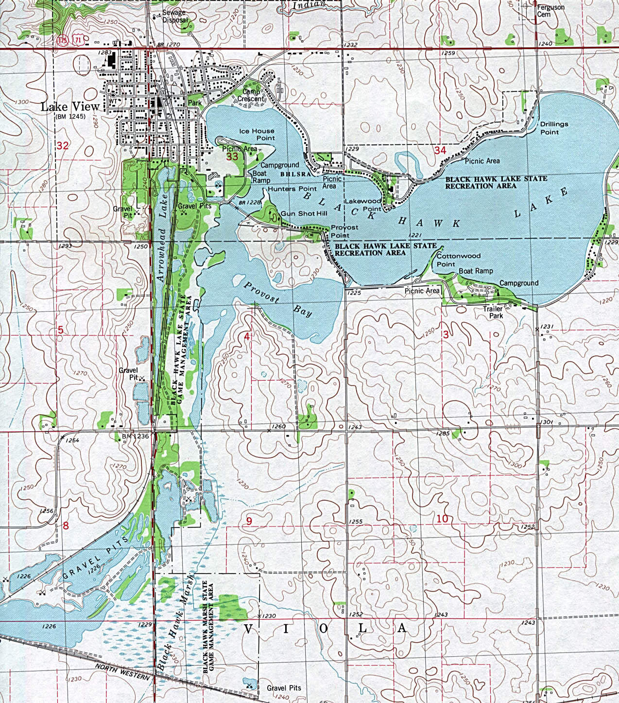 1Up Travel  Maps Of Iowa Lake View Topographic Map