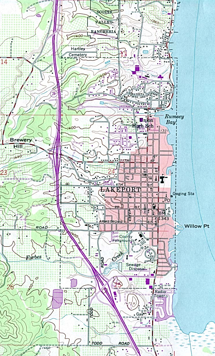 Clear Lake Camping Fishing Lakeport Ca Maps Northern Norcal