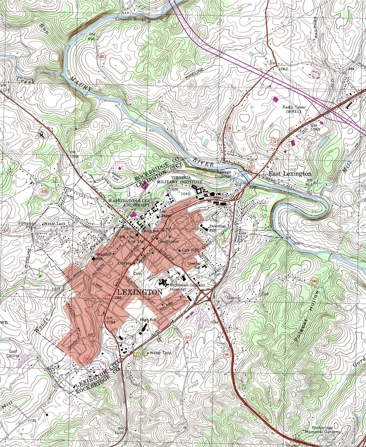 Virginia Maps PerryCastañeda Map Collection UT Library Online - Va road map