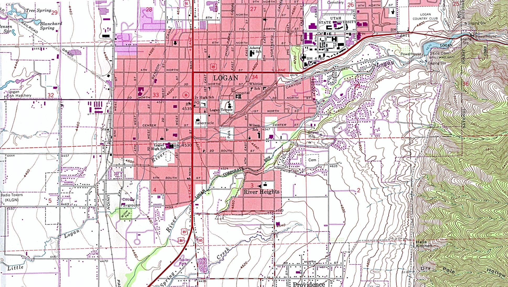 Utah Maps Map Collection UT - Topographic map of utah