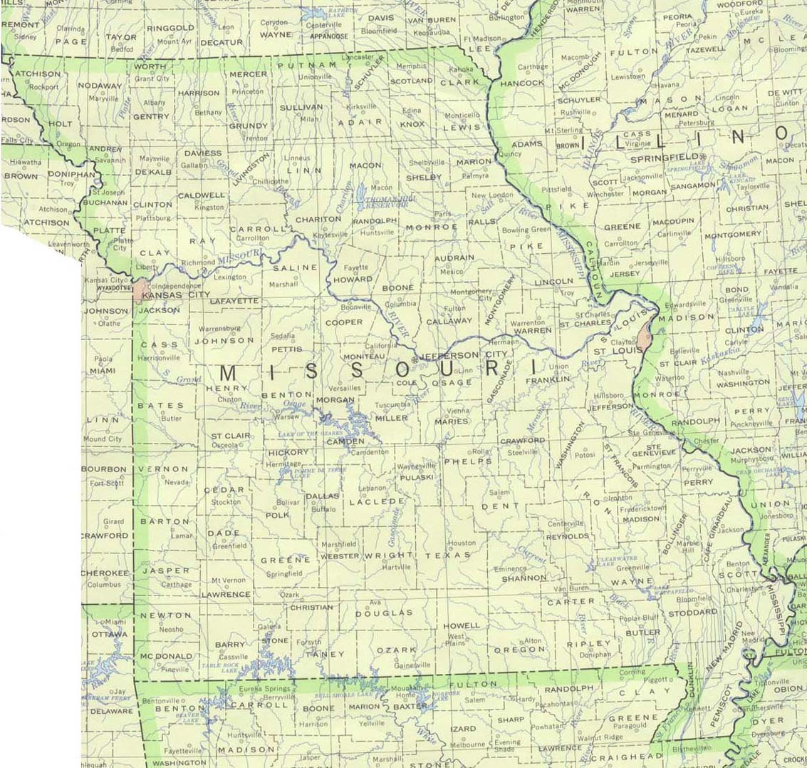 Missouri Maps Perry Castaneda Map Collection Ut Library Online
