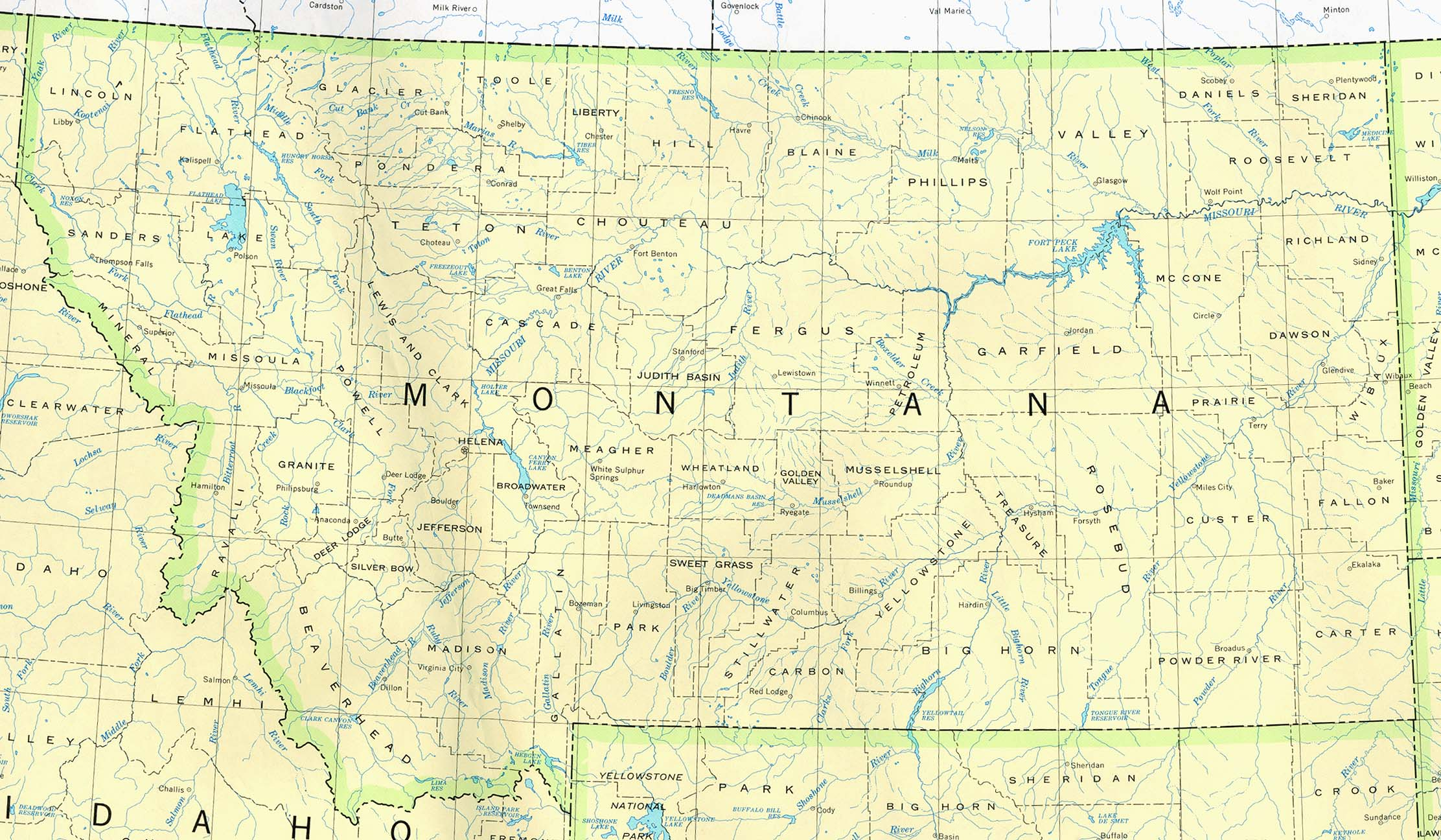 Montana Outline Maps And Map Links - Montana us map
