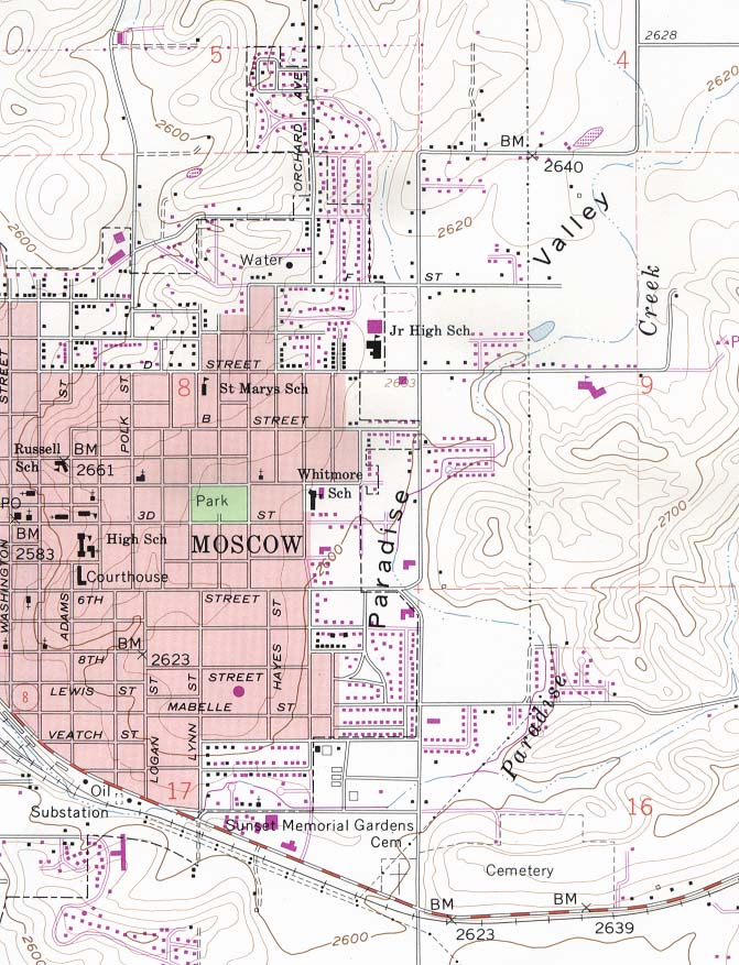Idaho Maps Perry Castaneda Map Collection Ut Library Online