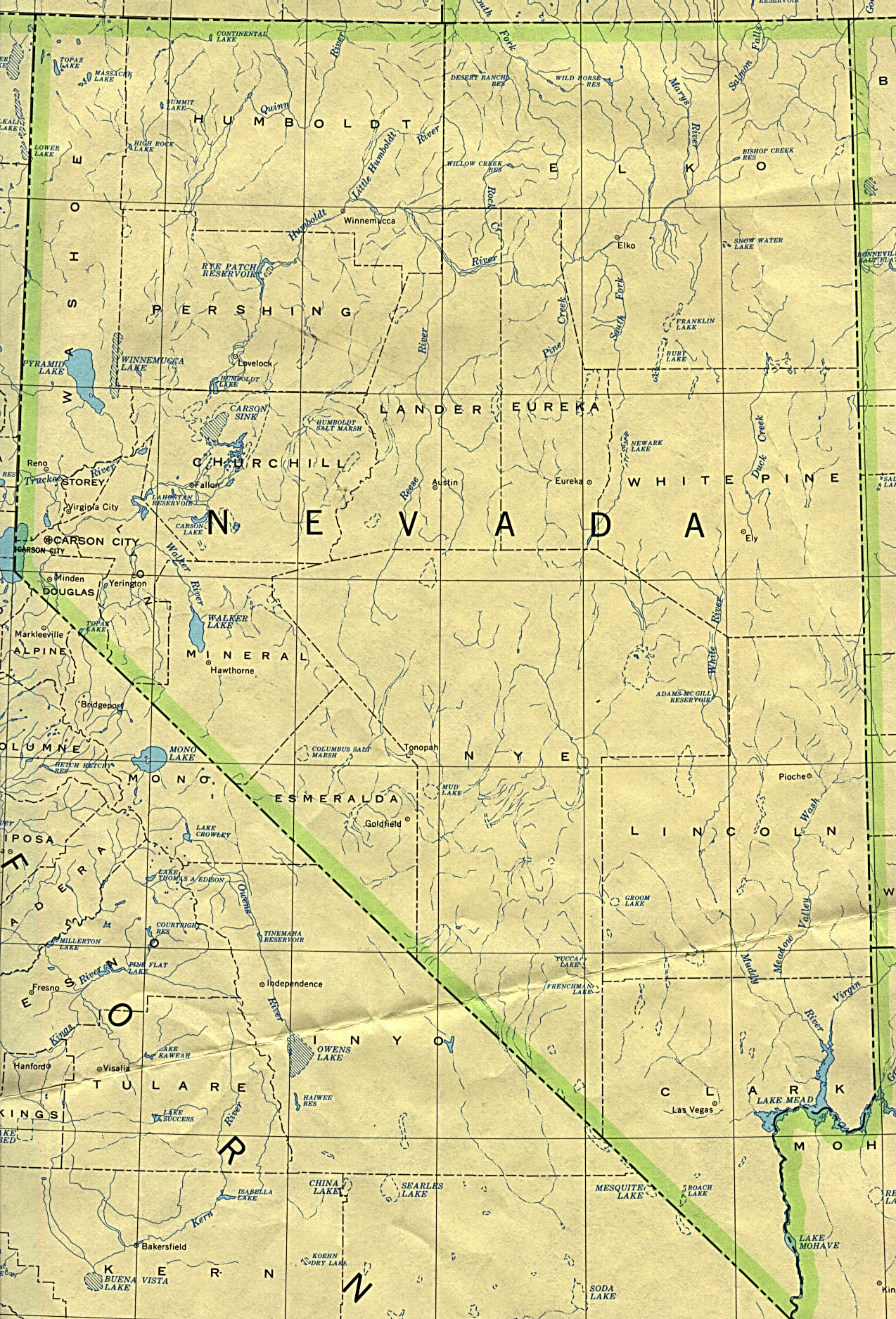 Nevada Maps PerryCastaeda Map Collection UT Library Online