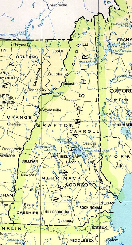New Hampshire Maps PerryCastañeda Map Collection UT Library - New hampshire cities and towns map
