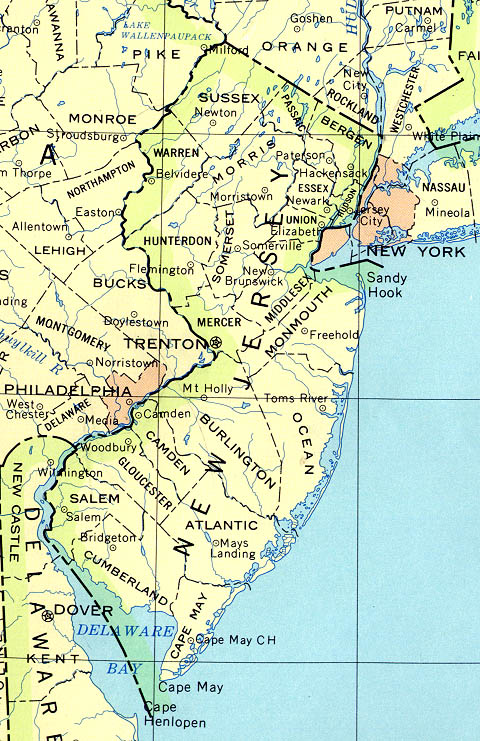 Map Of New York And New Jersey New Jersey Maps   Perry Castañeda Map Collection   UT Library Online