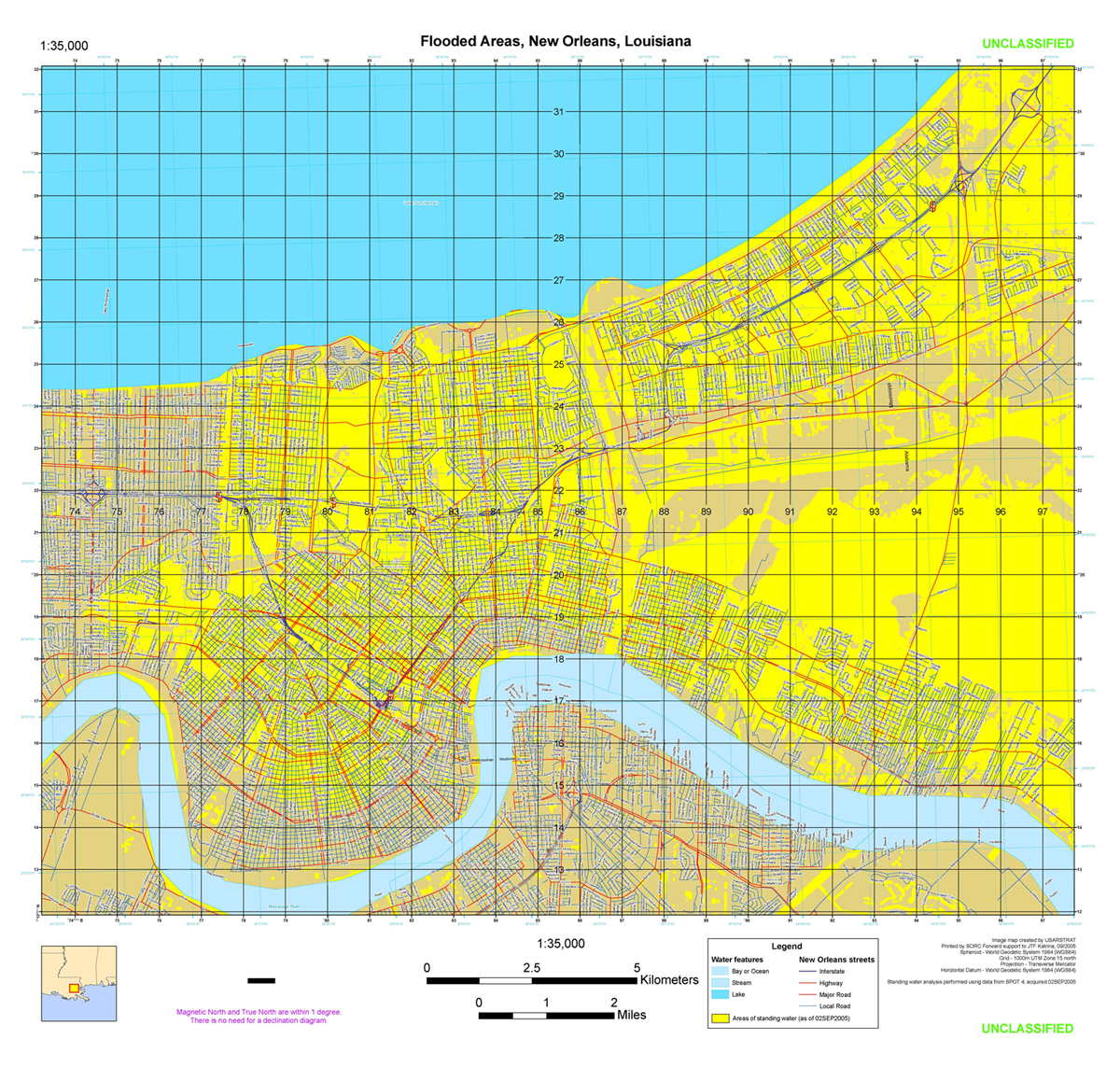 Hurricane Katrina Maps PerryCastañeda Map Collection UT - Map of us new orleans