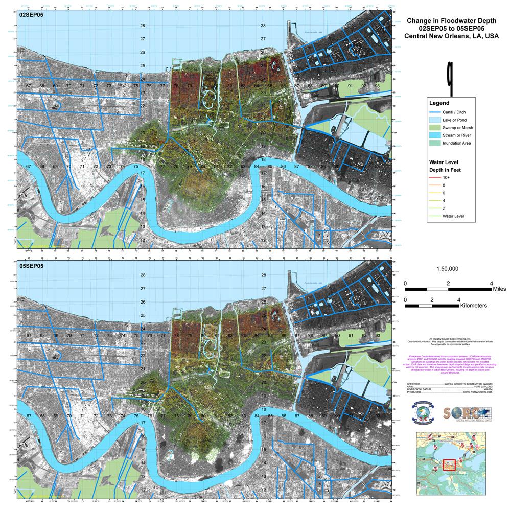 Hurricane Katrina Maps PerryCastaeda Map Collection UT