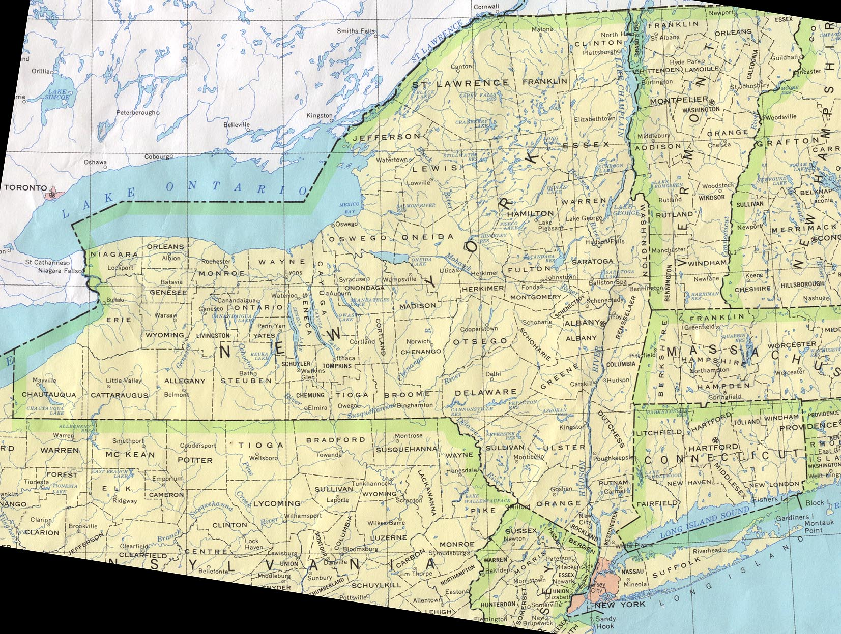New York Maps  PerryCastaeda Map Collection  UT