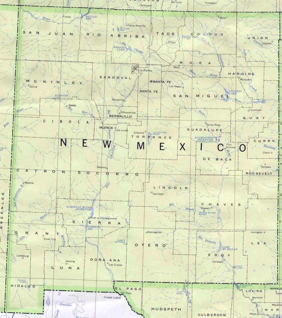 New Mexico Maps Perry Castaneda Map Collection Ut Library Online