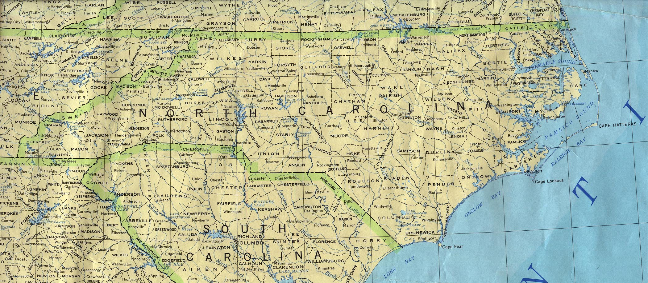 NC Historical County Lines
