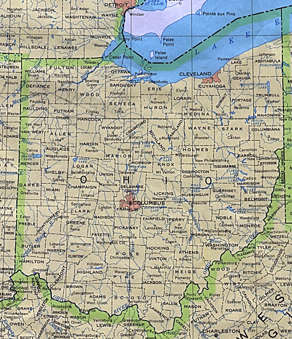 Outline Map Of Ohio.Ohio Outline Maps And Map Links
