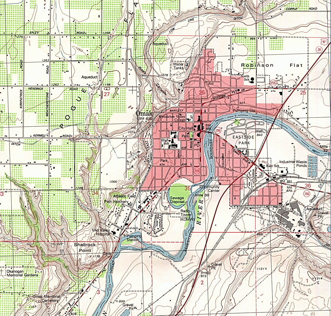 Map Of Omak Washington Washington Maps   Perry Castañeda Map Collection   UT Library Online